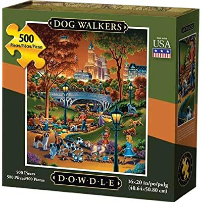 Dowdle Jigsaw Puzzle - Dog Walkers - 500 Piece: Toys & Games