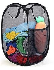 WeeDee Mesh Popup tvättkorg - tvättkorg bärbar, hållbara handtag, hopfällbar för förvaring och lätt att öppna. Fällbara popup-klädkorgar är bra för barnrummet