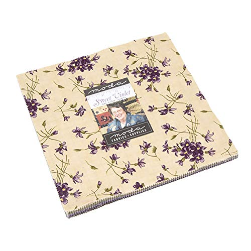 Sweet Violet Layer Cake, 42-10 inch Precut Fabric Quilt Squares by Jan - Quilt Fabric Violet