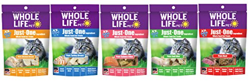 Whole Life Originals Freeze Dried Cat Treat Variety Pack, 5 Trial Size Bags