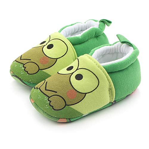 Save Beautiful Cute Cartoon Infant Unisex Baby Warm Cotton Anti-Slip Soft Sole First Walkers Shoes (6-12 Months, B-Frog) ()