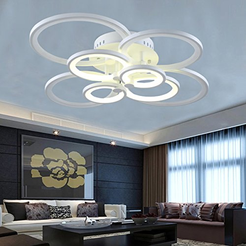 LightInTheBox Led 110W Flush Mount 8Lights/ Modern/Contemporary Acrylic Ceiling Light Lamp Fixtures Chandeliers (Cold White)
