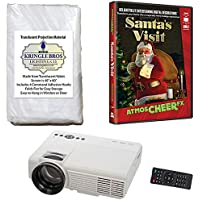 Virtual Reality Christmas Projector Kit with Projector Santas Visit DVD and High Resolution Screen