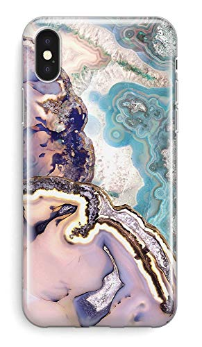 Recover Agate Slice Marble iPhone X Case/iPhone Xs Case. Soft Protective Silicone Cover for iPhone X & XS. (Agate Slice)
