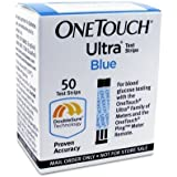 One Touch Ultra Blue Mail Order Test Strips, 50 CT (Pack of 2)
