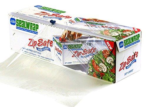 SealWrap Zipsafe Plastic Wrap, 24'' Wide by 2000' Length, PVC, Clear by SealWrap