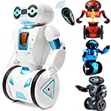 Designergearint HG Auto Balance 2.4gh RC Stunt Robot With Gravity Sensor Auto Balance 3d Aversion - Load Bearing, Dancing And Singing, Smart Gesture Sensors, Fight Mode (White)