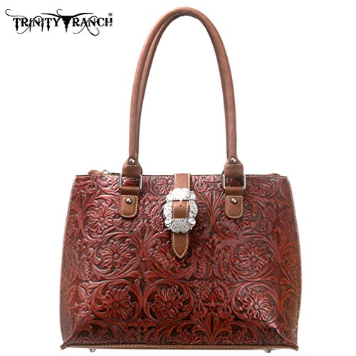 Montana West Trinity Ranch Western Purse Handbag Leather - Get Your Western ON! TR11-L8564rwbrn