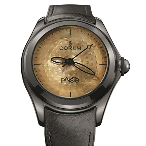 Corum Men's Bubble Paiste Limited Edition 350 pcs 47mm Leather Band Automatic Watch 110.310.98/0081 PA01 R