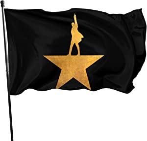 KarleDeal Hamilton The Musical Fashion Garden Flag Festival Welcome Banner Party Decorative Flags Black One Size