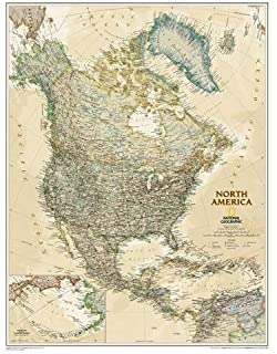 Amazon national geographic world executive map enlarged national geographic north america executive wall map laminated 235 x 3025 inches gumiabroncs Gallery