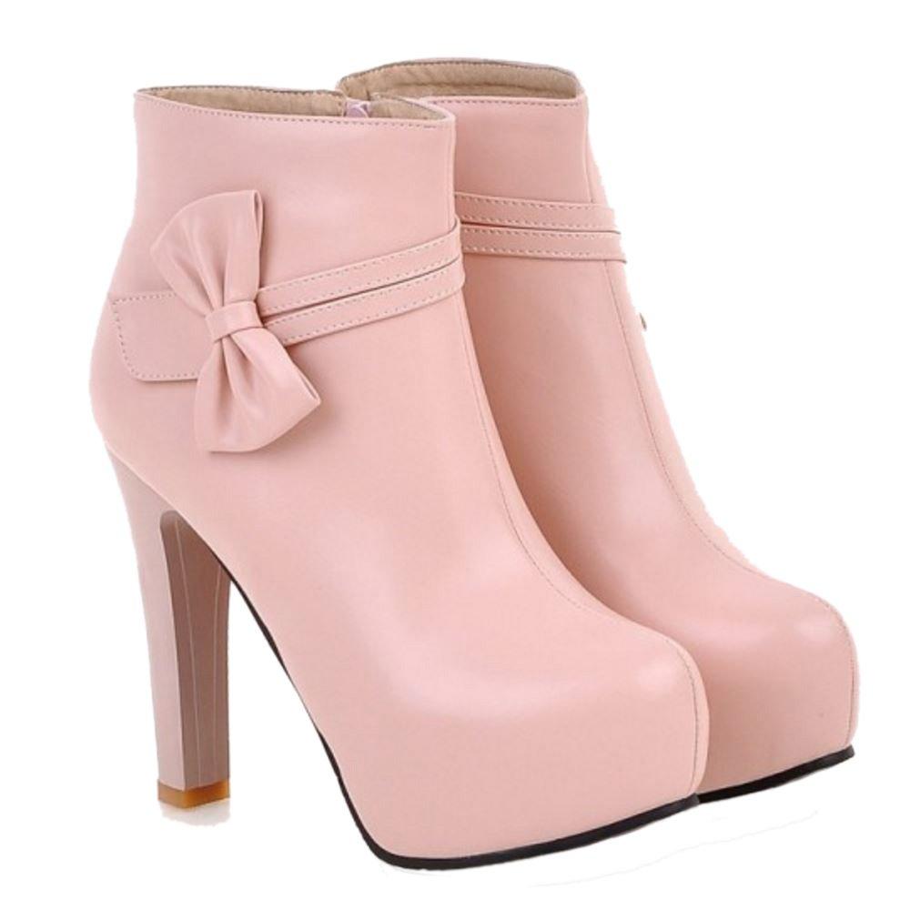 Zanpa Donna Stivaletti Pink Bowknot Scarpe Piattaforma 08nmNw