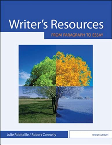 amazon com writer s resources from paragraph to essay  amazon com writer s resources from paragraph to essay 9780495908302 julie robitaille robert connelly books