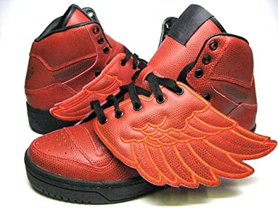 super popular efc6c ee1f8 Image Unavailable. Image not available for. Color  adidas Originals Men s Jeremy  Scott Wings B-Ball Shoes S77803,4.5 Red