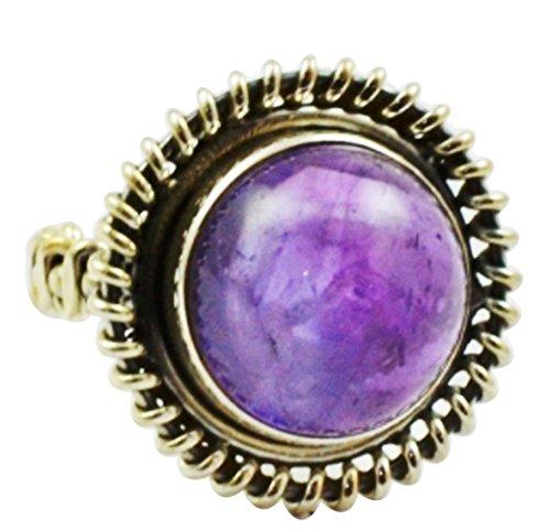 - Lovegem Genuine Amethyst Ring 925 Sterling Silver,Size :4.75, AR3050