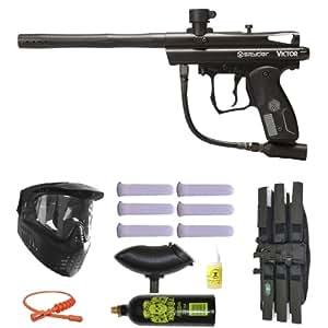 Spyder Victor Paintball Marker Gun 3Skull Mega Set - Black