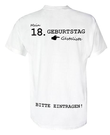 T Shirt Geburtstag Gästeliste 18 Jahre Rundhals Birthday