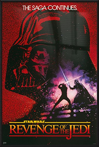 Star Wars: Episode VI - Revenge Of The Jedi - Framed Movie Poster / Print (Initial Title - Later Renamed to Return Of The Jedi) (Size: 24