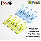 ITOWE Pack of 32 Utility Clips, Multi-Purpose