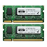 Wintec Value MHz 2GB(2x1GB) 1Rx8 2 Dual Channel Kit DDR2 667 (PC2 5300) 200-Pin SO-DIMM 3VT6675S8-2GK