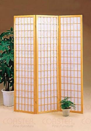 3 Panel Natural Room Divider Shoji Screen