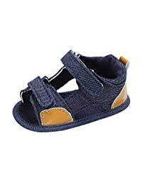 Infant Baby Boys Girls Summer Sandals Walking Shoes 6-18 Months Toddler Soft Sole First Walkers Crib Shoes