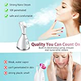 Facial Steamer - LONOVE Nano Ionic Face Steamer for Home Facial Warm Mist Humidifier Steamer for Face Sauna Spa Sinuses Moisturizing Cleansing Pores,Bonus Stainless Steel Skin Kit and Hair Band