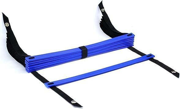 TOOGOO(R) 10 pies Escalera de velocidad de agilidad Escalera de entrenamiento de futbol Escalera de velocidad de 7 peldanos planos rapido- Azul: Amazon.es: Deportes y aire libre