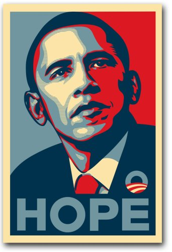 Pop Culture Graphics Barack Obama FAIREY (Hope) Rare Campaign Poster 24 x 36