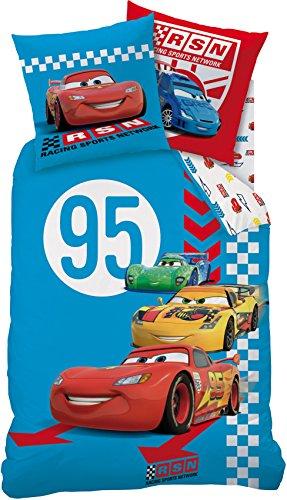 Bettwäsche Set Disney Cars 135x200cm + 80x80cm Biber/Flanell