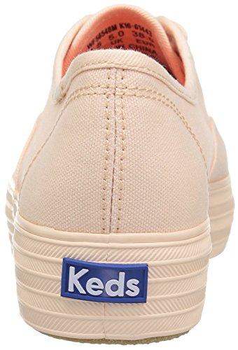 Keds-dames Drievoudige Seizoensgebonden Effen Mono-mode Sneaker Bleke Perzik