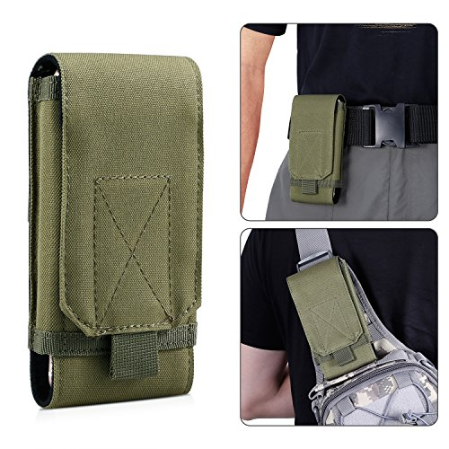 Tactical Pouch,Bienna Small Military Bag Molle Gear [Waterproof] 1000D Nylon EDC Utility Gadget Phone Velcro Waist Bag Pack Holster Pocket Cover Case for Vest & Phone 4
