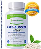 Carb Blocker with Phase 2 Carb Controller (Chromium, White Kidney Bean Extract, Gymnema) for Healthy Weight Loss, Fat Fighter, Block Carbohydrates, Appetite Suppressant -Veg 90 Pills by PowerbyNatural