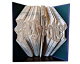 Harry Potter Gift - Harry Potter Fan - Folded Book - Book Sculpture - Friend Coworker Boss Gift - Harry Potter Collectibles - Wizard Gift