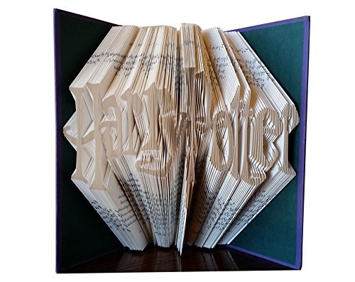 Harry Potter Gift - Harry Potter Fan - Folded Book - Book Sculpture - Friend Coworker Boss Gift - Harry Potter Collectibles - Wizard Gift by The Book Artisan