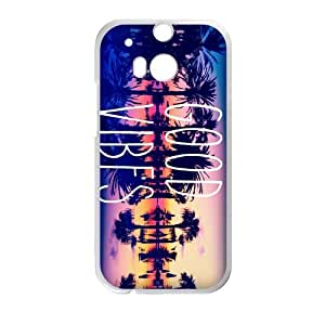 Canting_Good Good Vibes Sunset Custom Case shin for HTC One M8 (Laser Technology)