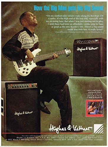 Hughes & Kettner - BassBase 250 Combo - Gerald Veasley - 1993 Print Advertisement (Hughes Kettner Combo)