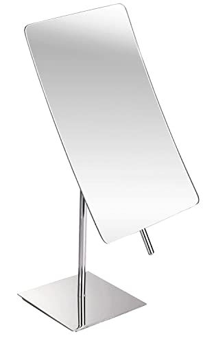 GURUN Rectangle Vanity Makeup Mirror,5X Magnification, Polished Chrome 2234,5X