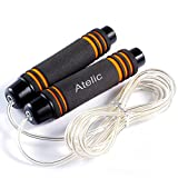 1 TOP RATED JUMP ROPE,Atelic® Adjustable Jump Rope and Comfortable Handles Speed Rope Cardio Training for Exercise Crossfit Working Out Adult Men Women Girls Kids Children