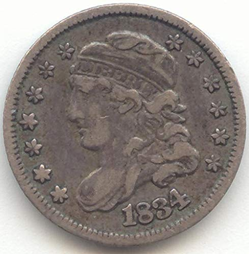- 1834 Capped Bust Half Dime Extra Fine