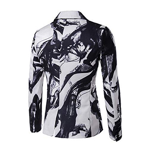 Amazon.com: Easytoy Mens Lapel Slim Fit Printed Dress Suit Jacket Blazer One Button Tuxedo for Party,Wedding,Banquet,Prom: Sports & Outdoors