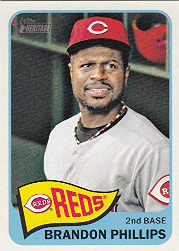 2014 Topps Heritage #456 Brandon Phillips Reds MLB Baseball Card (SP - Short Print) NM-MT