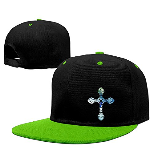 - LQYG Bible Cross Hip-Hop Cotton Hats Jogging Cap Hat KellyGreen