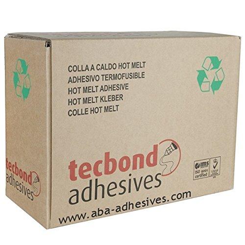 TecBond 12mm Fondre À La Chaleur Colle Bâtons Transparent Multi Usage - 5kg