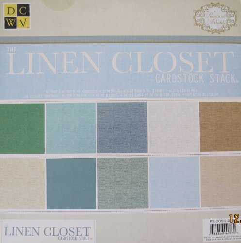 DCWV The LINEN CLOSET CARDSTOCK STACK Pad of 48 SHEETS 12