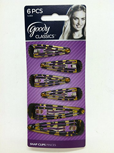 Goody Classic Double Bar Counter Clips 6 Count - Pack of 3