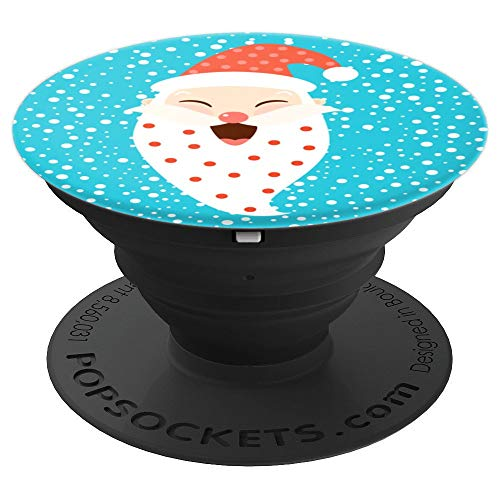 Cute Laughing Santa Claus With Hat And Hearts - PopSockets Grip and Stand for Phones and Tablets