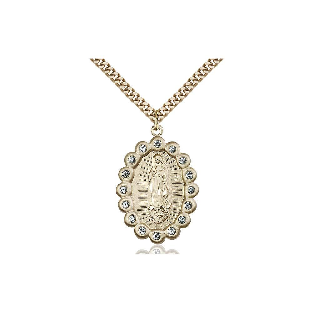 DiamondJewelryNY 14kt Gold Filled O//L of Guadalupe Pendant