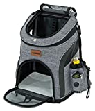RETRO PUG PET Carrier Backpack - Front Pack - Airline Approved - Strap Adjustable - Pet Carriers for Small Dogs and Cats - Travel, Hiking, Outdoor with Pets - Include Fleece Pad - Up to 10 lbs