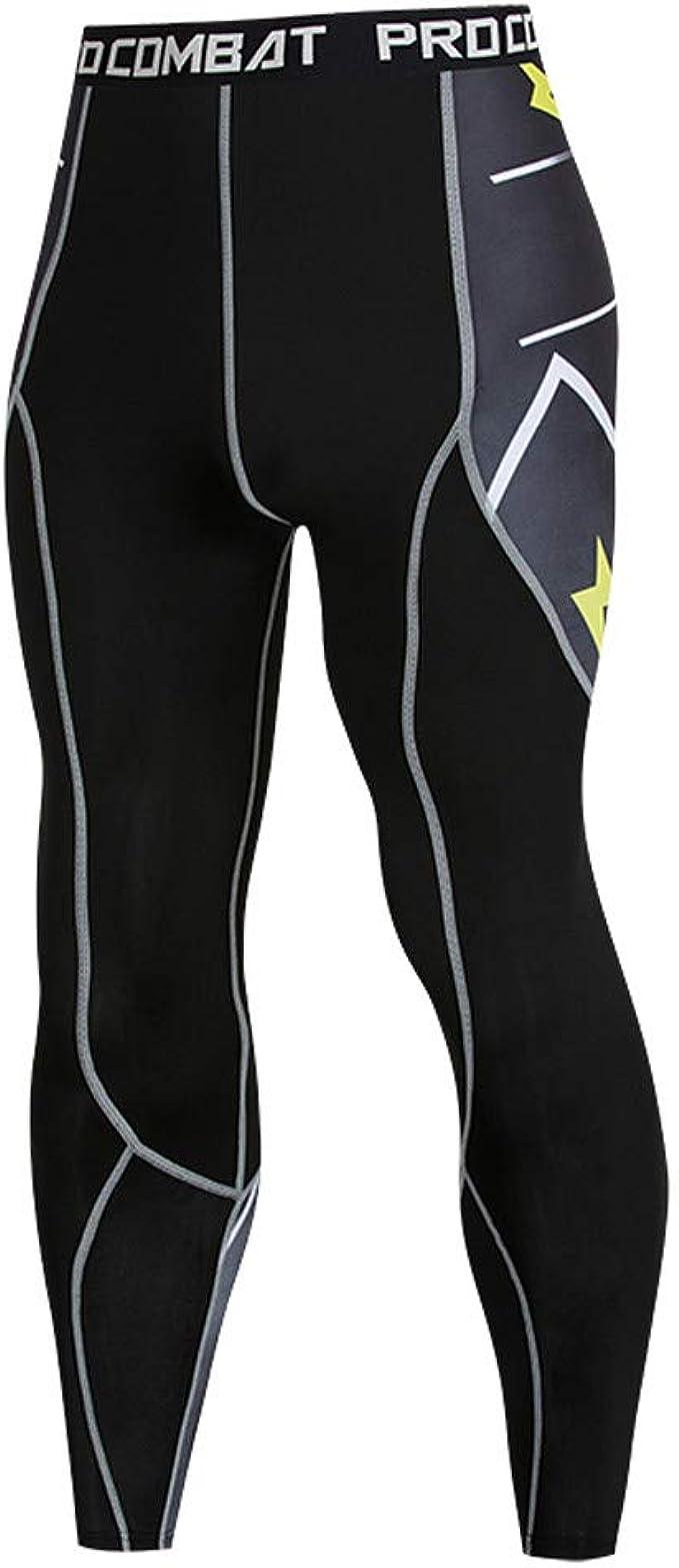 Maglie Pantaloni Elegante Slim Fit Tight Pantacollant da Allenamento per Yoga e Stretch Pants Elastico Jogging FRAUIT Palestra Completi Sportivi da Uomo Leggins Palestra Compressione